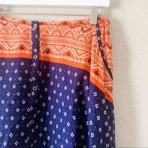 Roxy Skirts - NWT! Roxy Cosmia Blue Orange Button Up Skirt, M